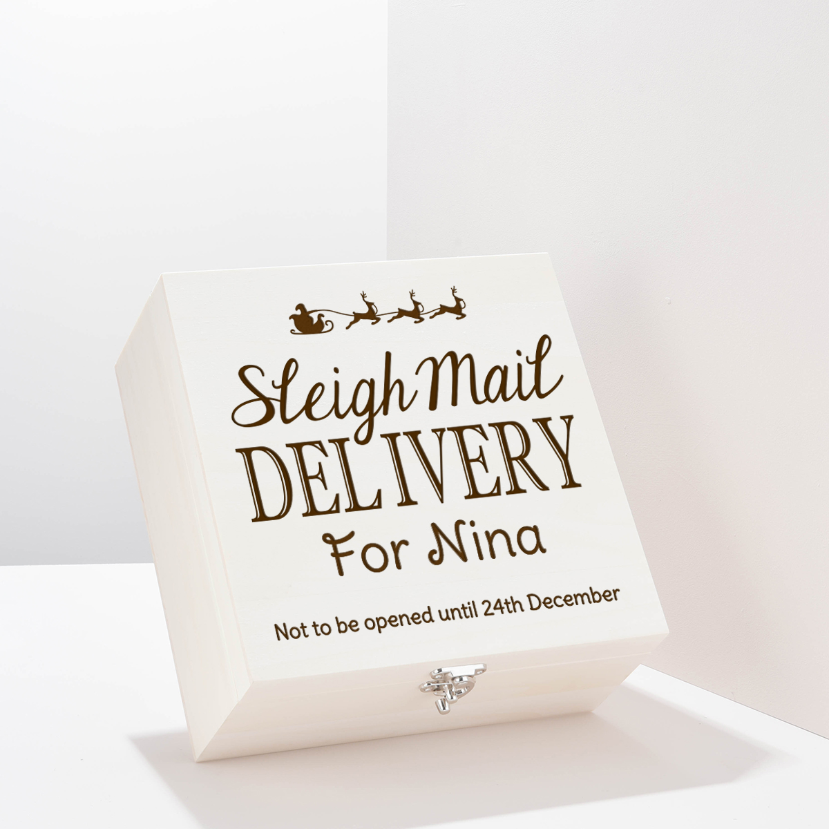 Personalised Storage Box - Sleigh Mail Delivery