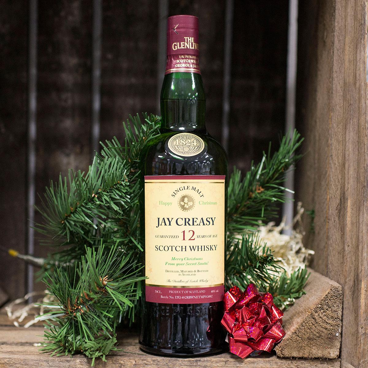 Personalised 12 Year Old Single Malt Christmas Whisky