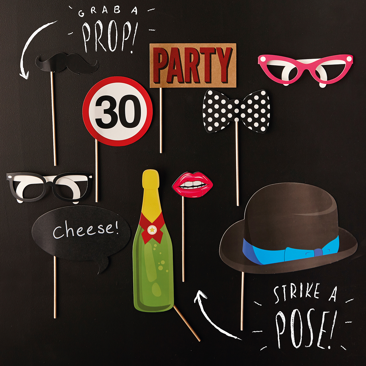 Image of 30th Birthday Photo Booth Props