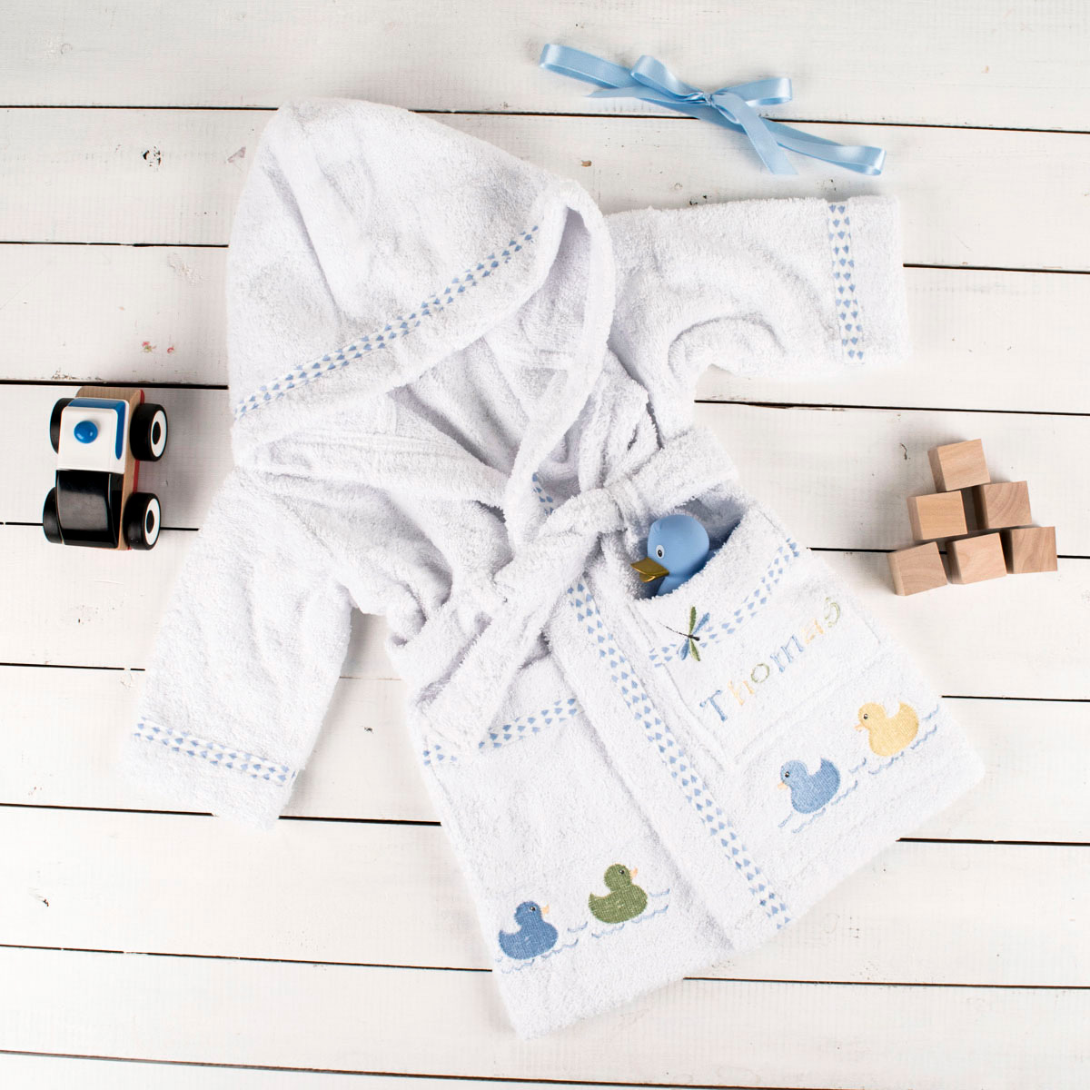 Personalised Babys Dressing Gown for Boys