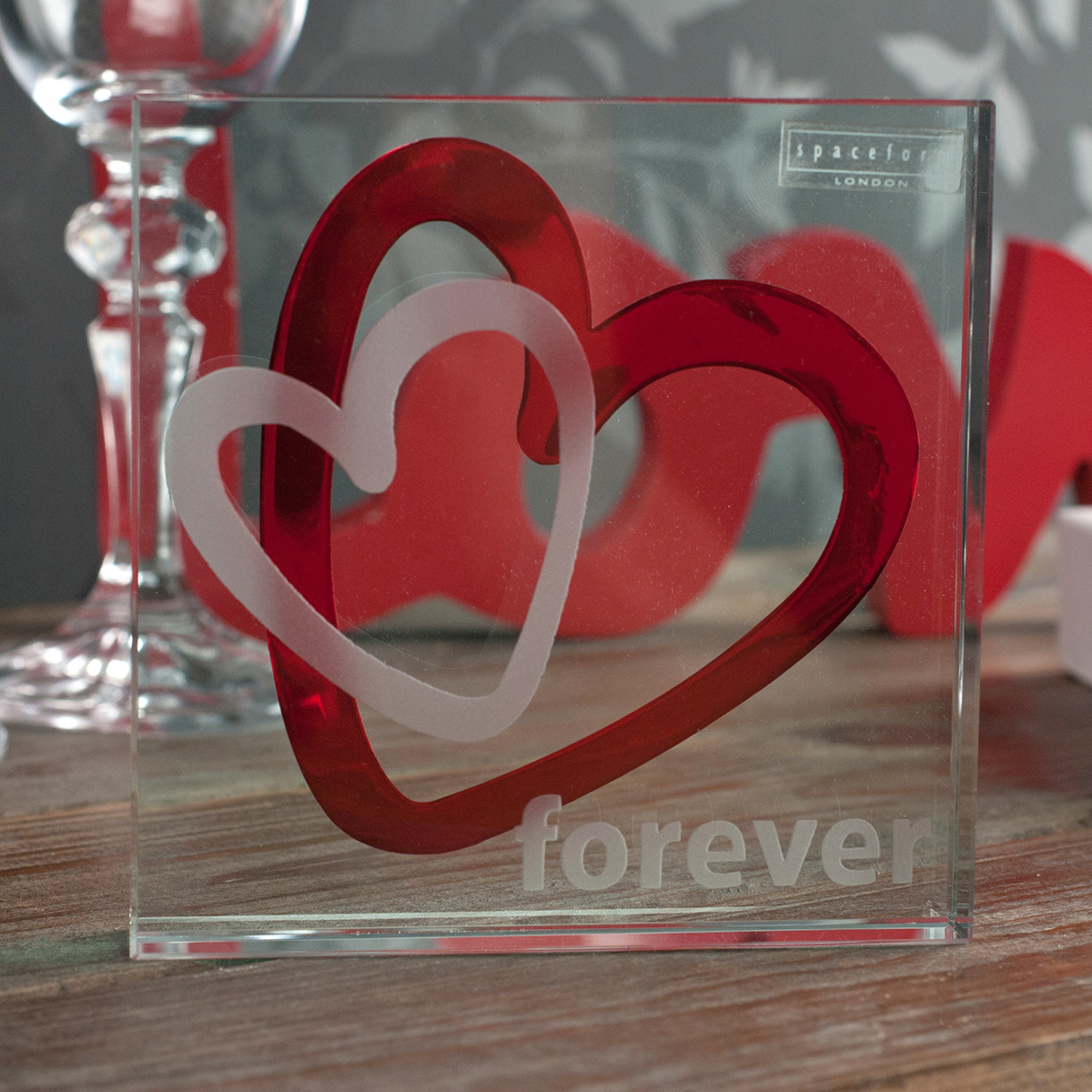 Spaceform Large Paperweight  Forever Heart