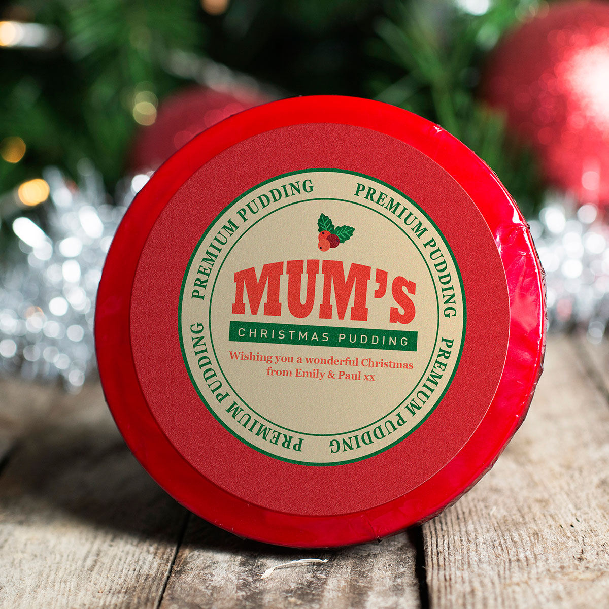 Personalised Christmas Pudding - Mum's Premium Pudding