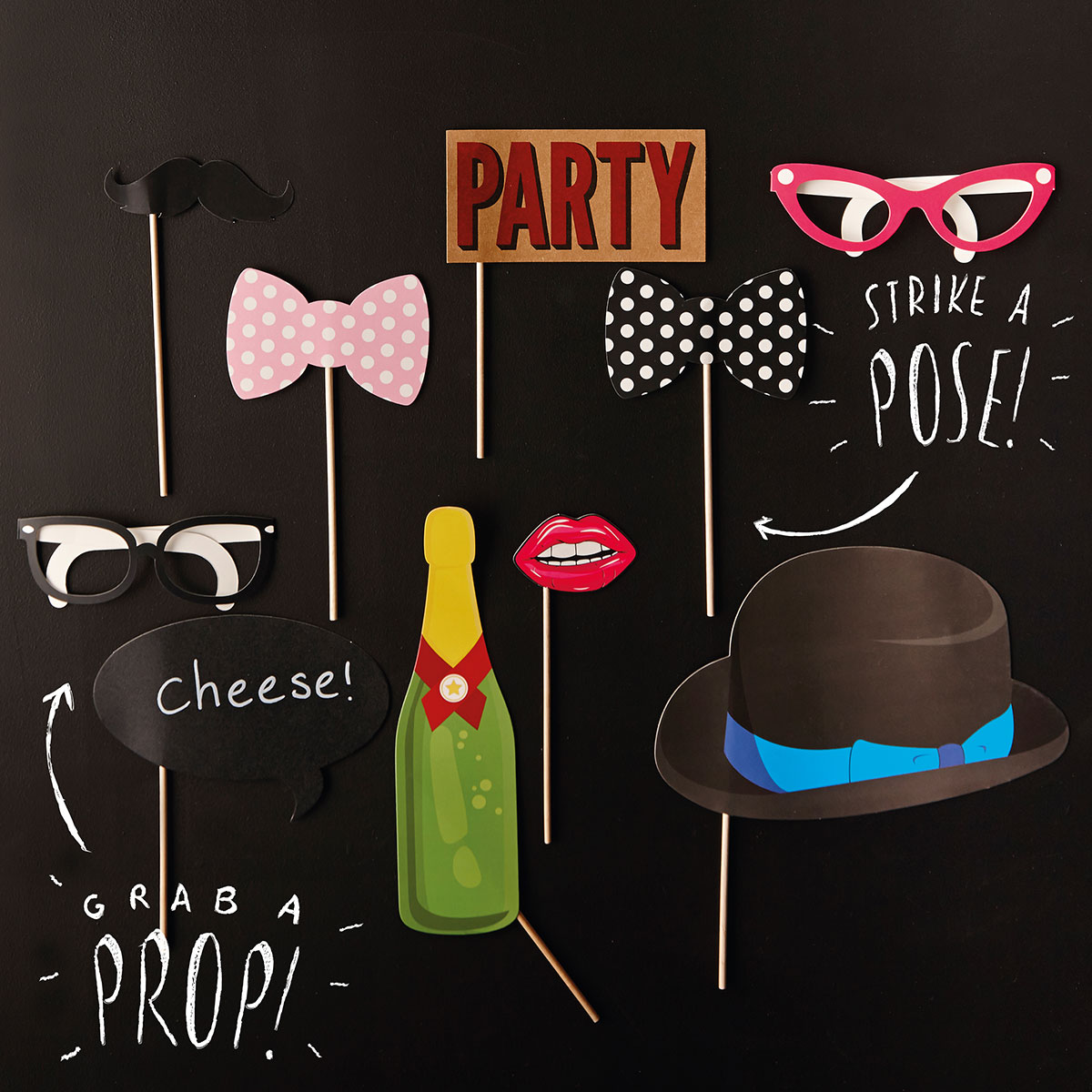 Image of Birthday Photo Booth Props