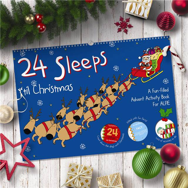 Personalised 24 Sleeps 'Til Christmas Activity Advent Book