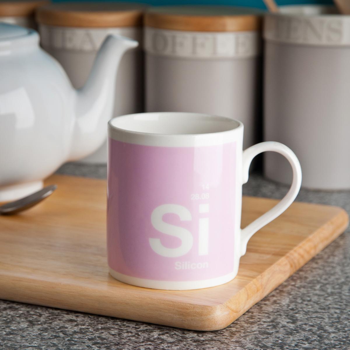 Silicon - The Surgically Enhanced Element - Bone China Mug