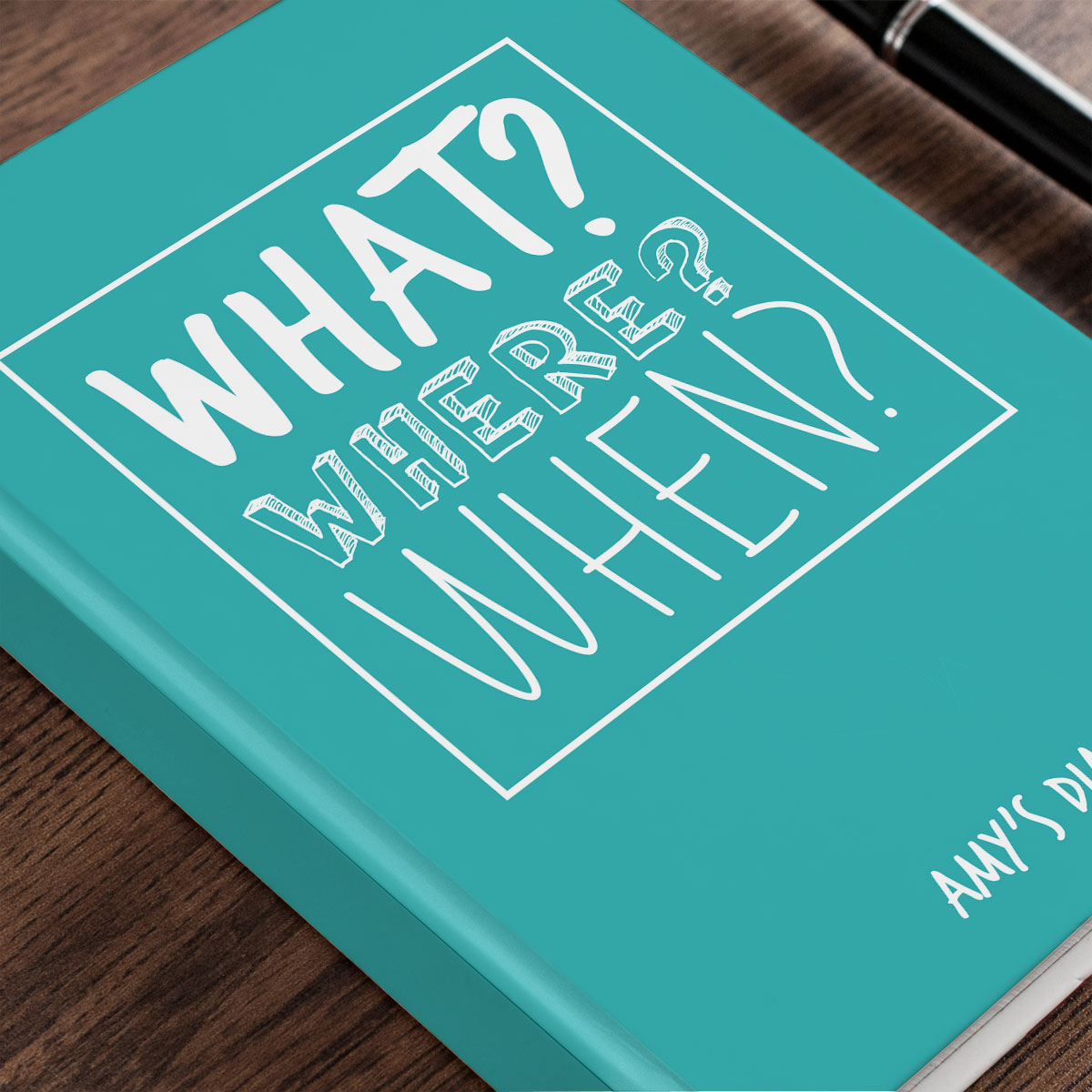 Personalised Diary - What? Where? When?