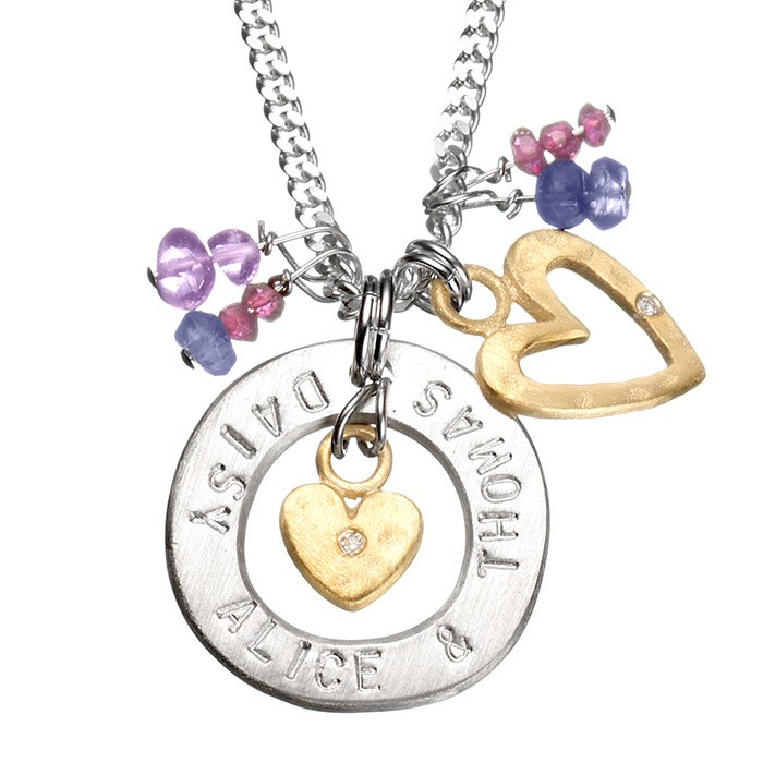 Personalised My World Necklace