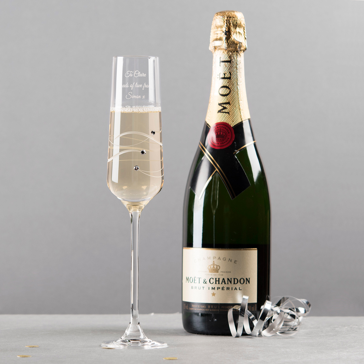 Personalised Spiral Champagne Flute
