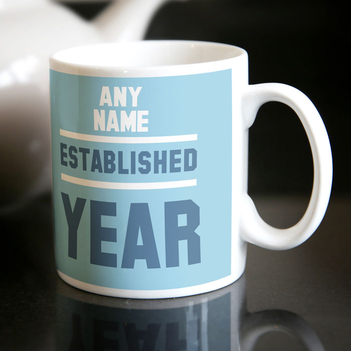 Image of Personalised 21st Birthday Mug - Est