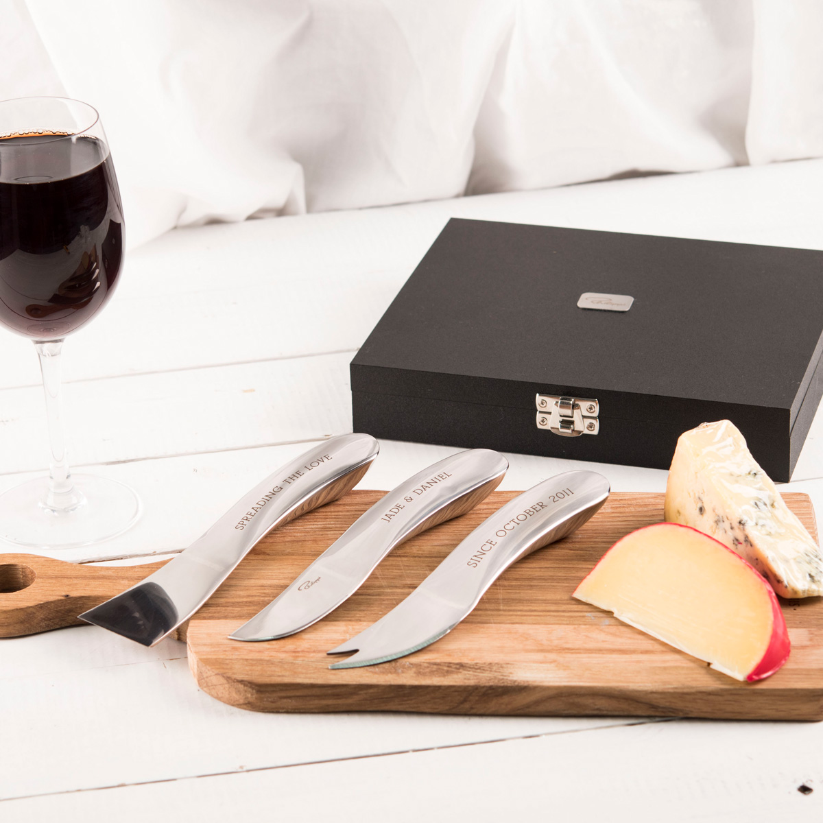 Engraved Set Of 3 Phillipi Cheese Knife Set  Any Message