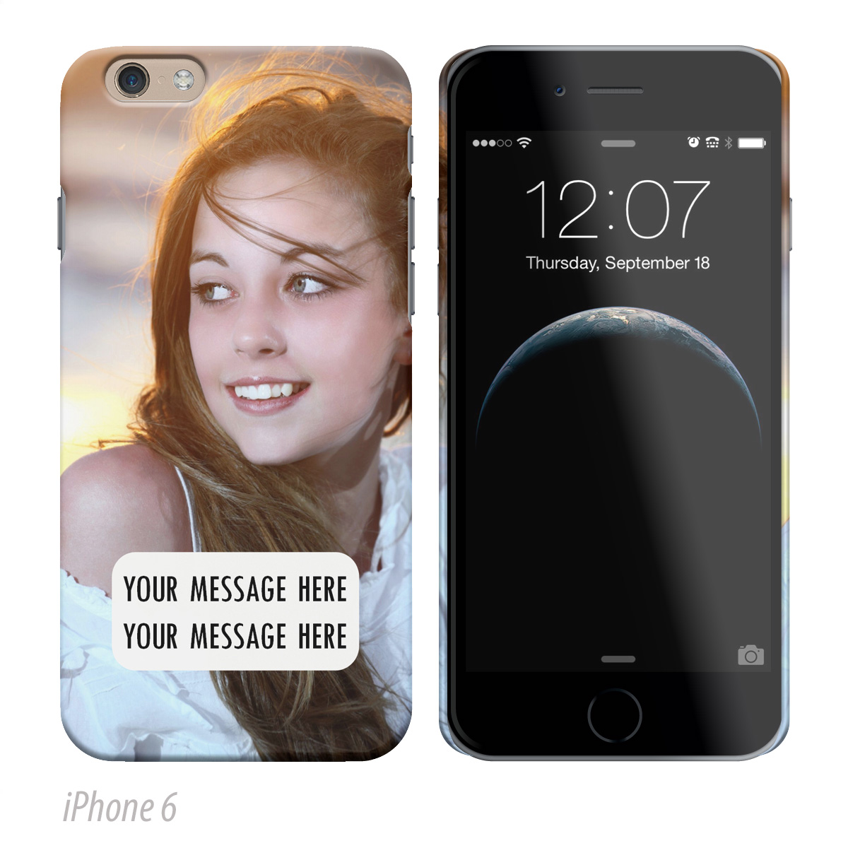 Photo Upload iPhone Cover with Message