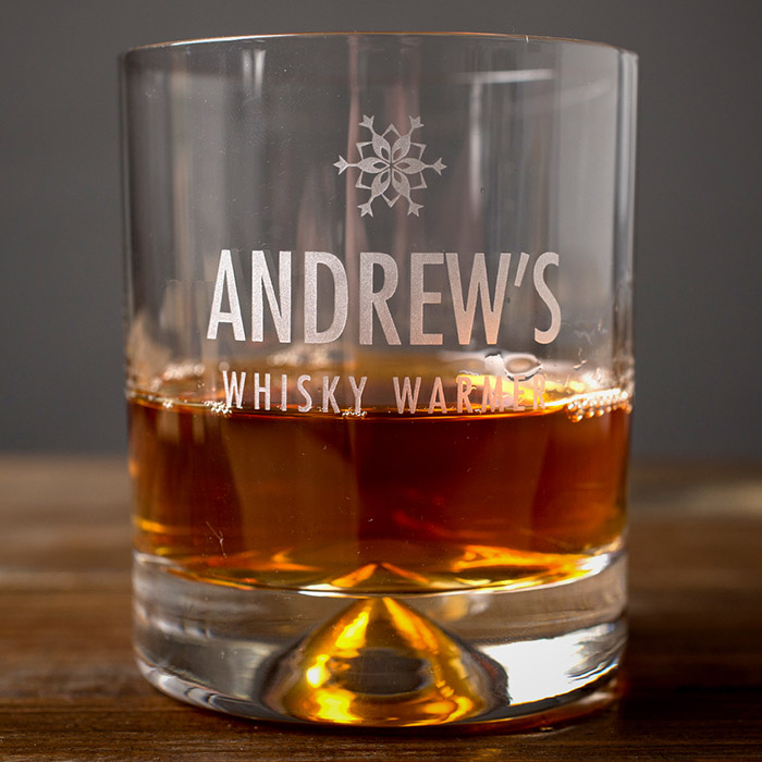 Personalised Whisky Tumbler  Whisky Warmer