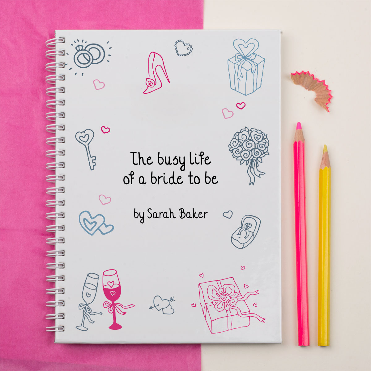 Personalised Notebook  Busy Life of a Bride To Be
