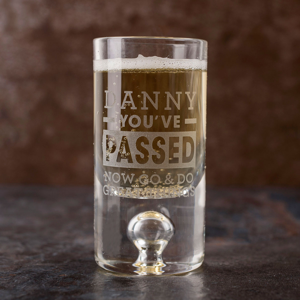 Personalised Shot Glass with Miniature  Youve Passed
