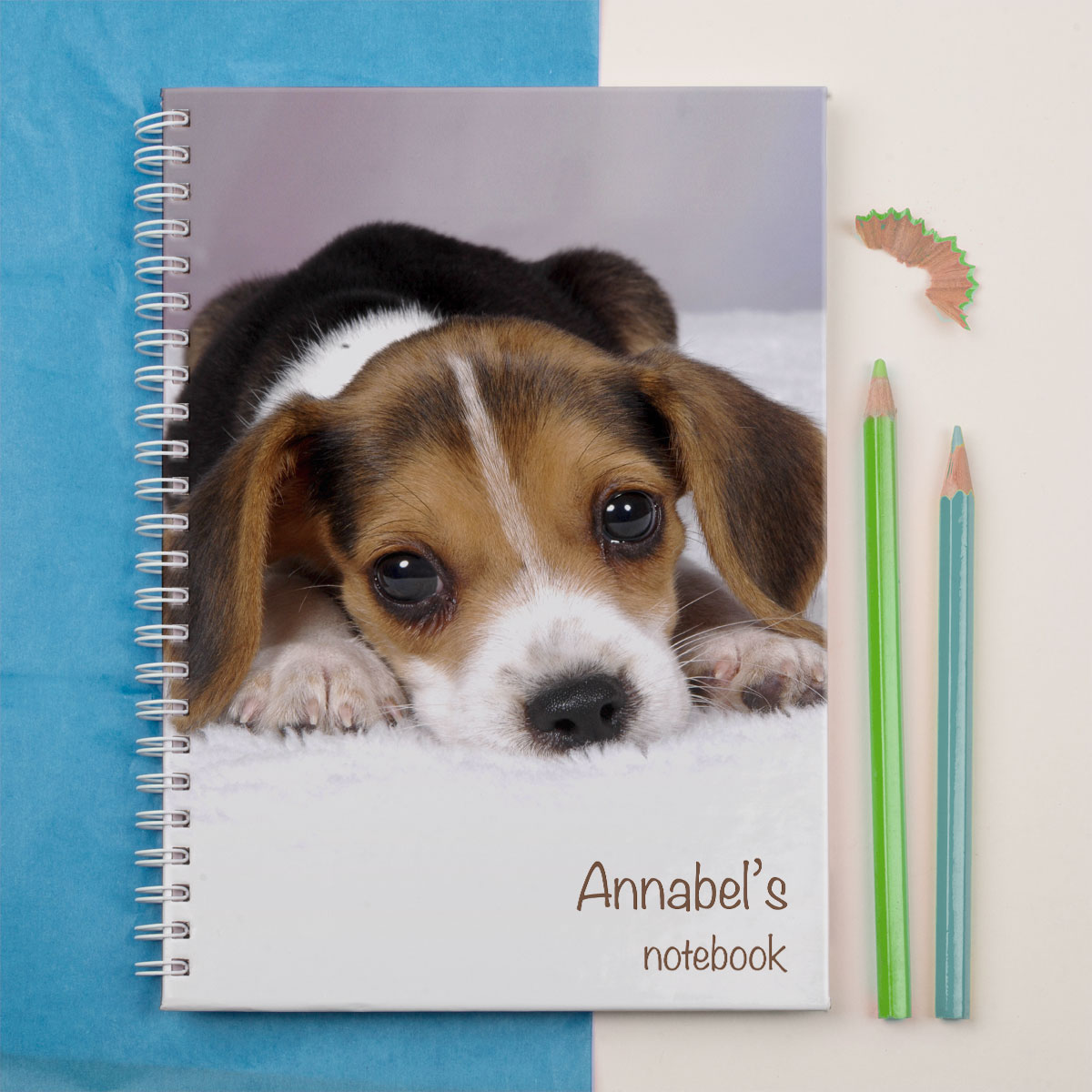 Personalised Notebook  Cute Puppy Face