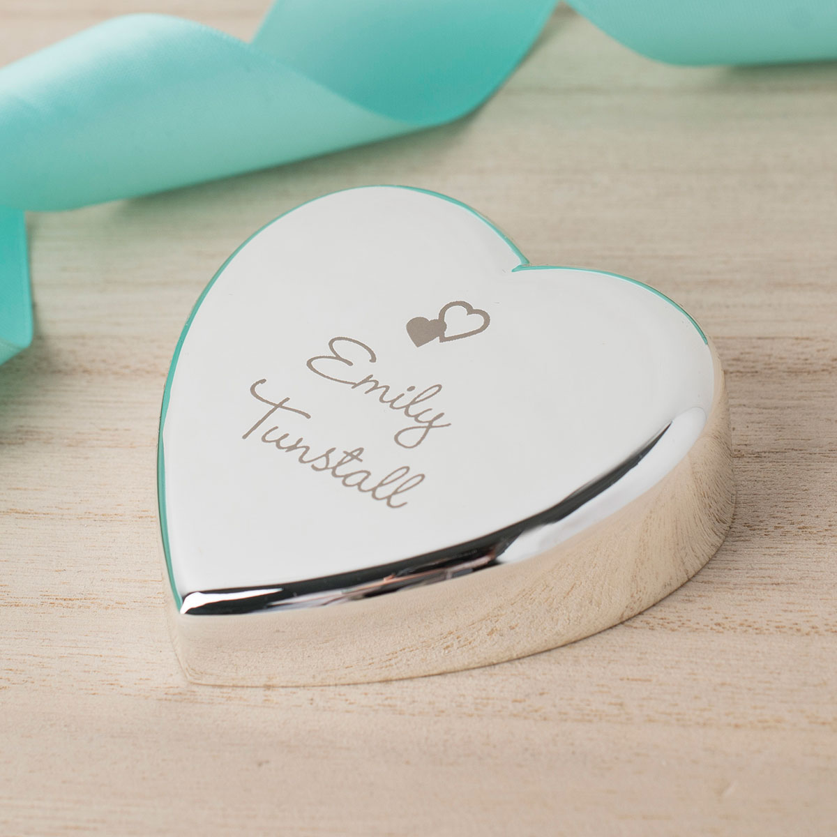 Engraved Heart Paperweight  Hearts Name