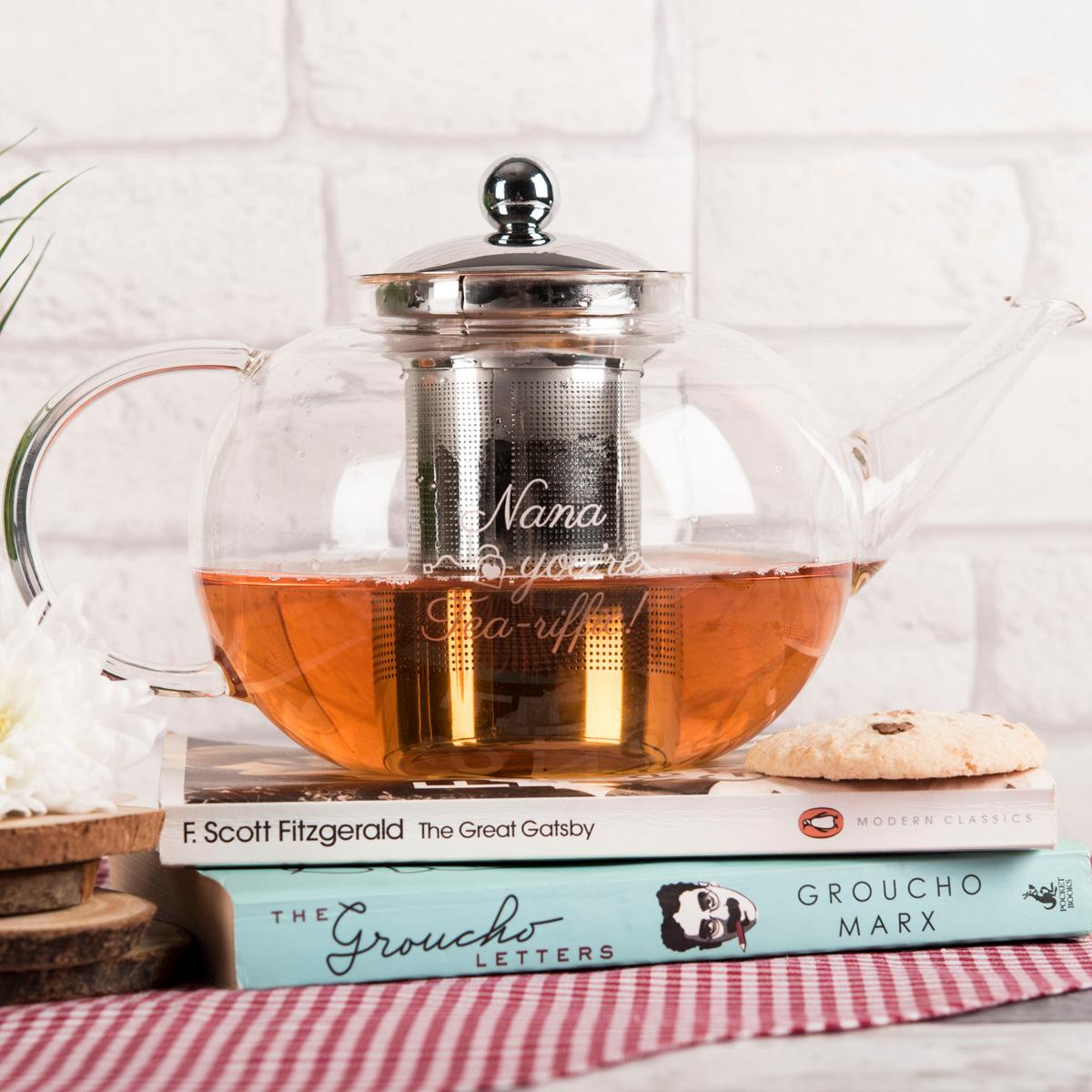 Personalised Glass Teapot  Teariffic
