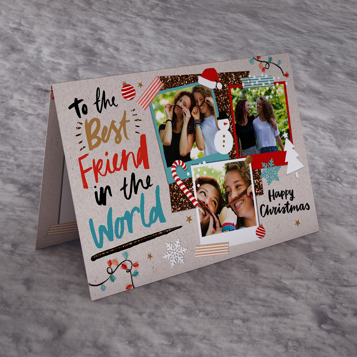 Photo Upload Christmas Card - Best Friend In The World
