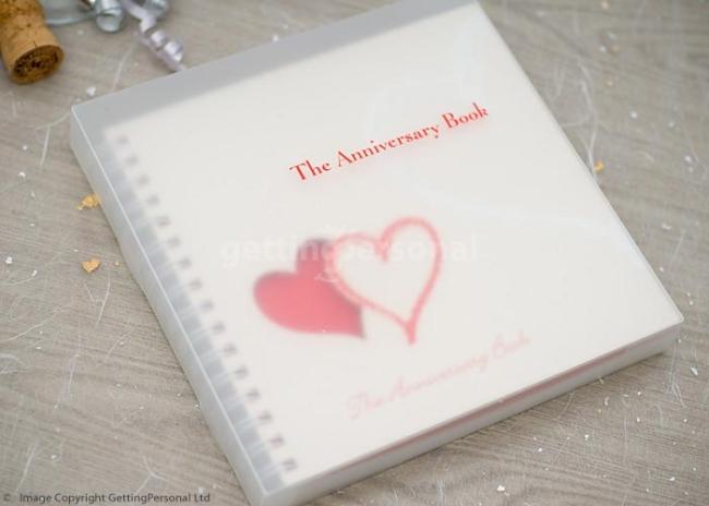 Anniversary Book  For a Silver Anniversary...