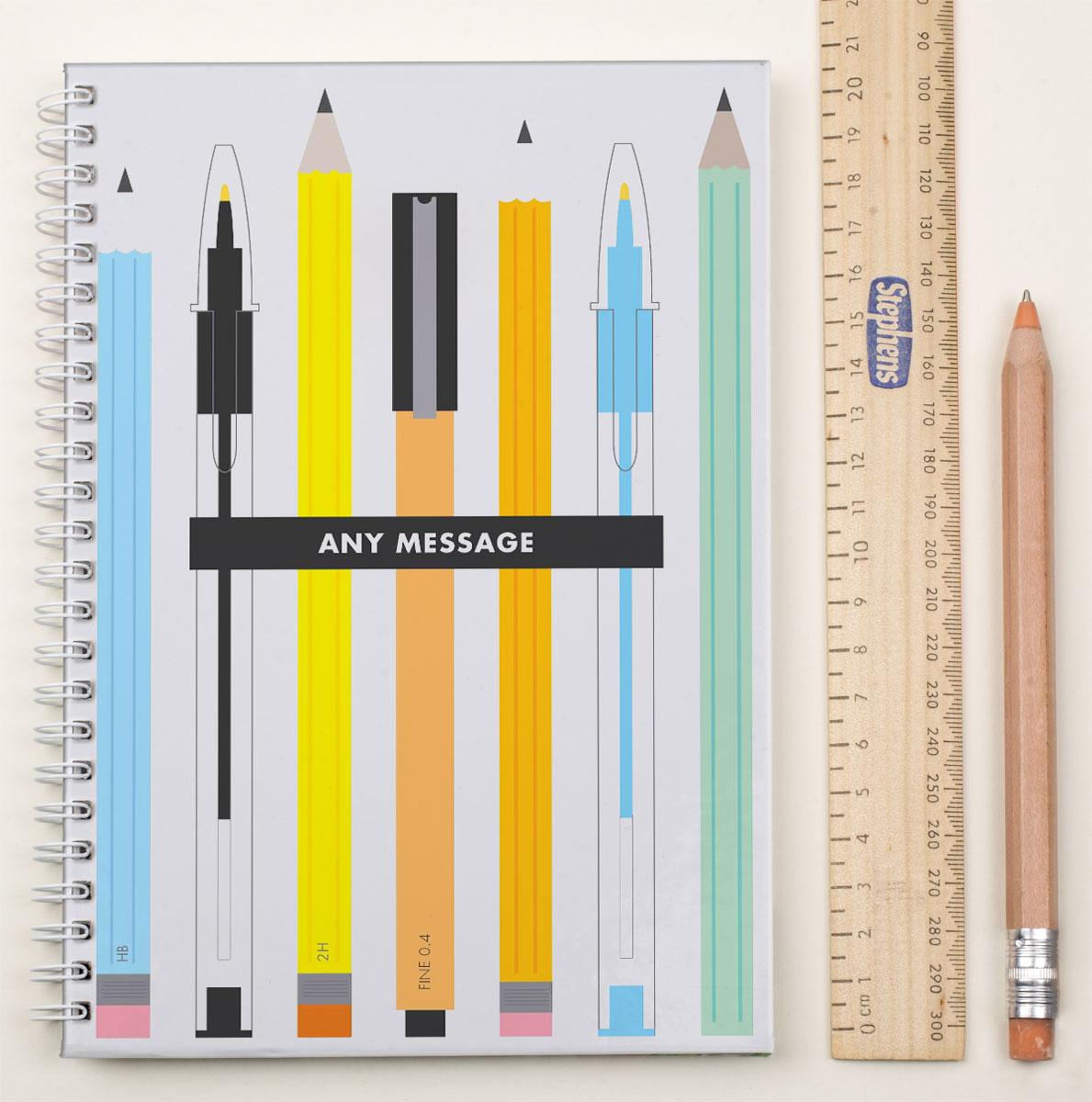 Personalised Notebook  Teachers Pens