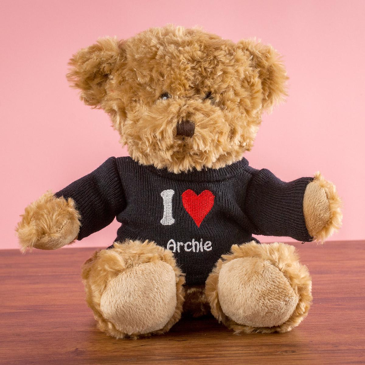 Personalised \'I Heart\' Rupert Bear