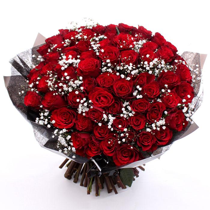 100 Romantic Red Roses