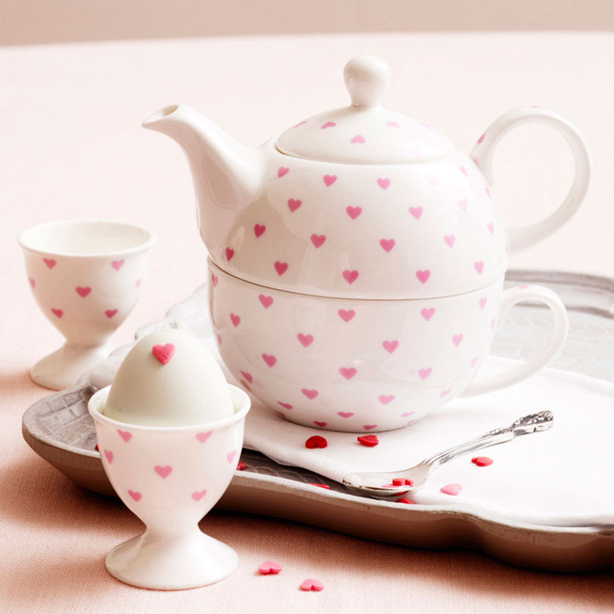 Heart Tea Set For One
