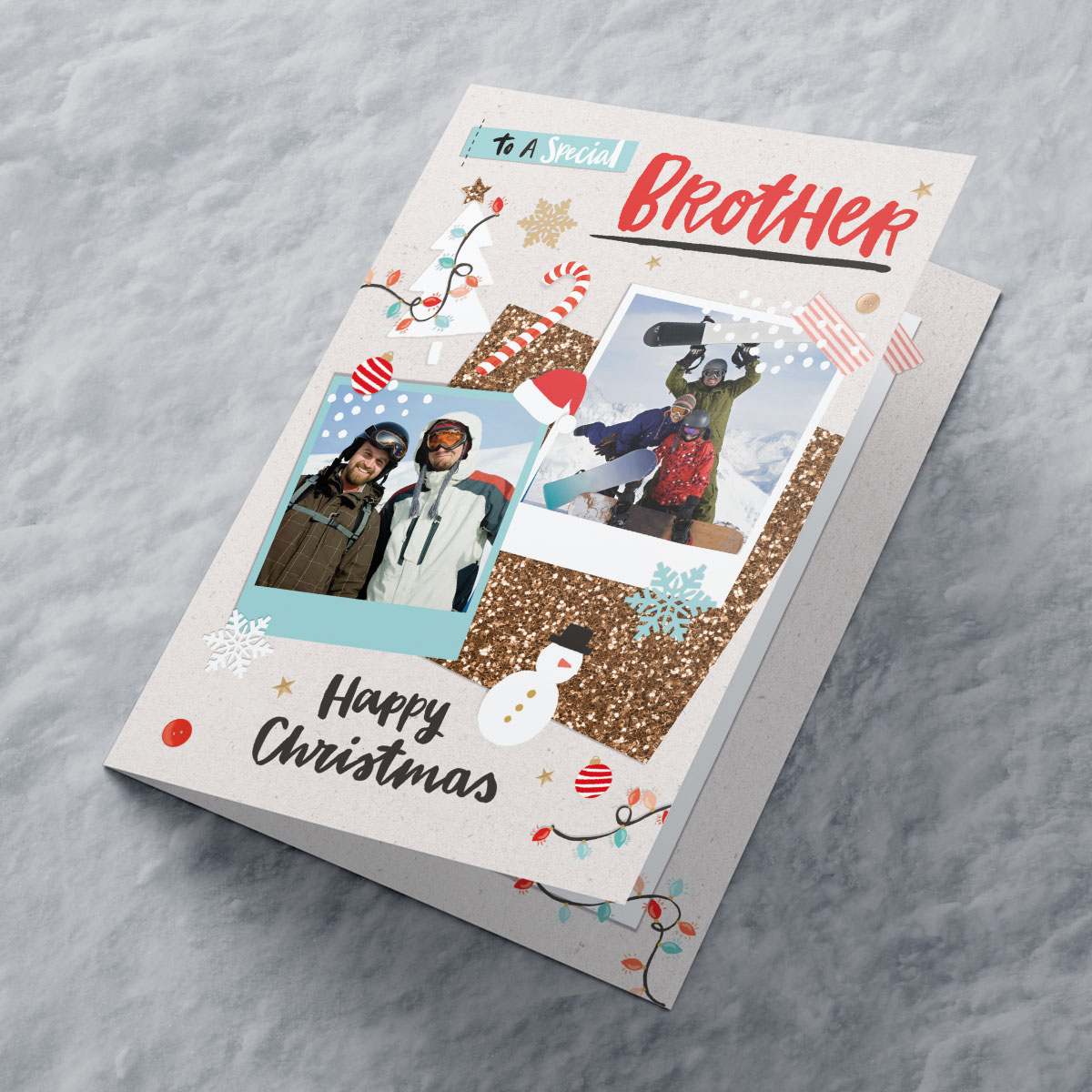 Multi Photo Upload Christmas Card - Special Brother
