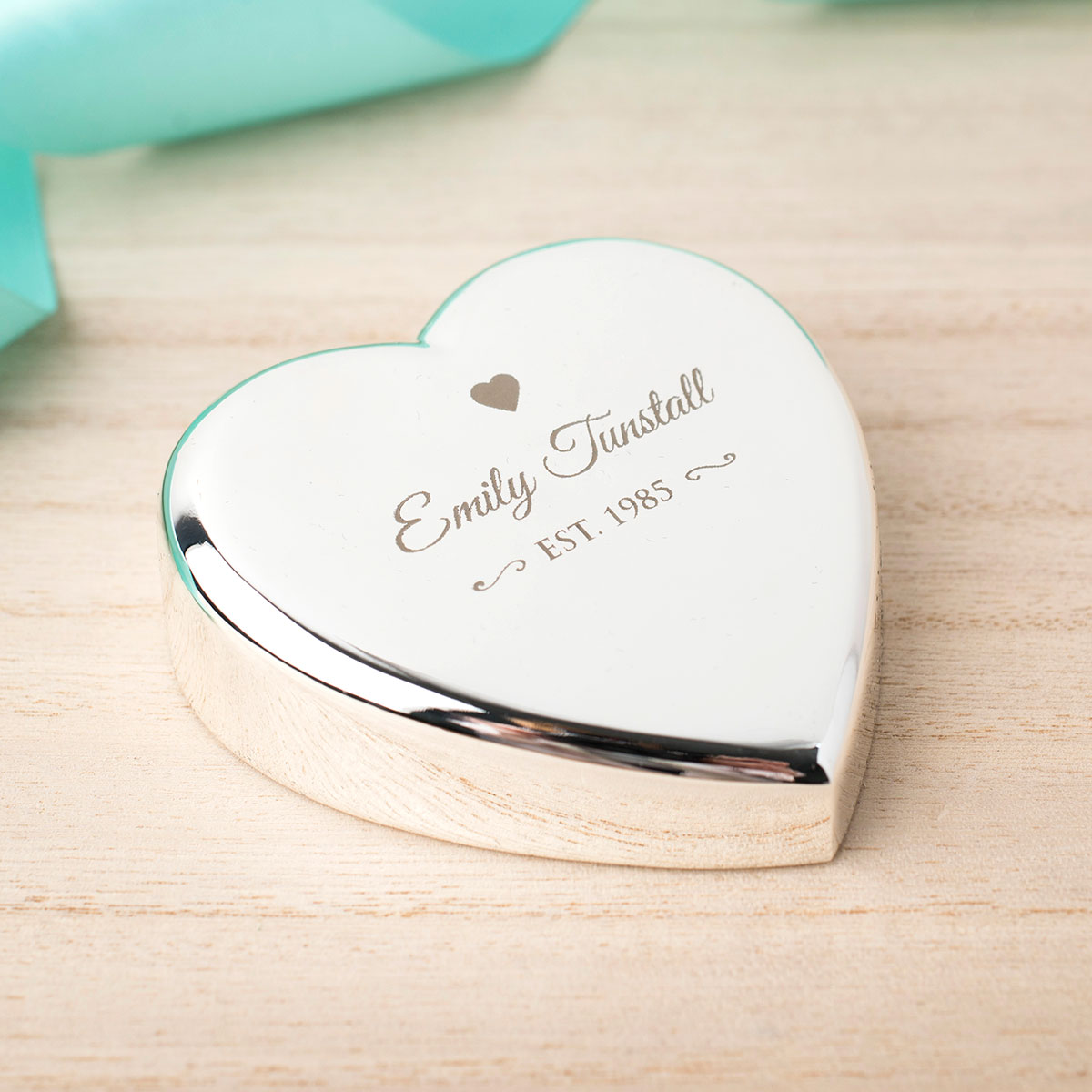 Engraved HeartShaped Paperweight