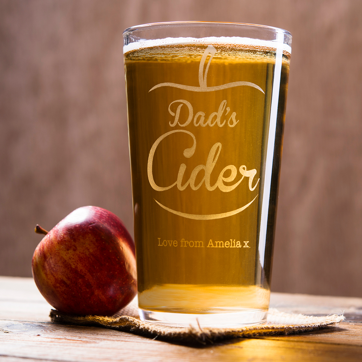 Personalised Pint Glass  Dads Cider
