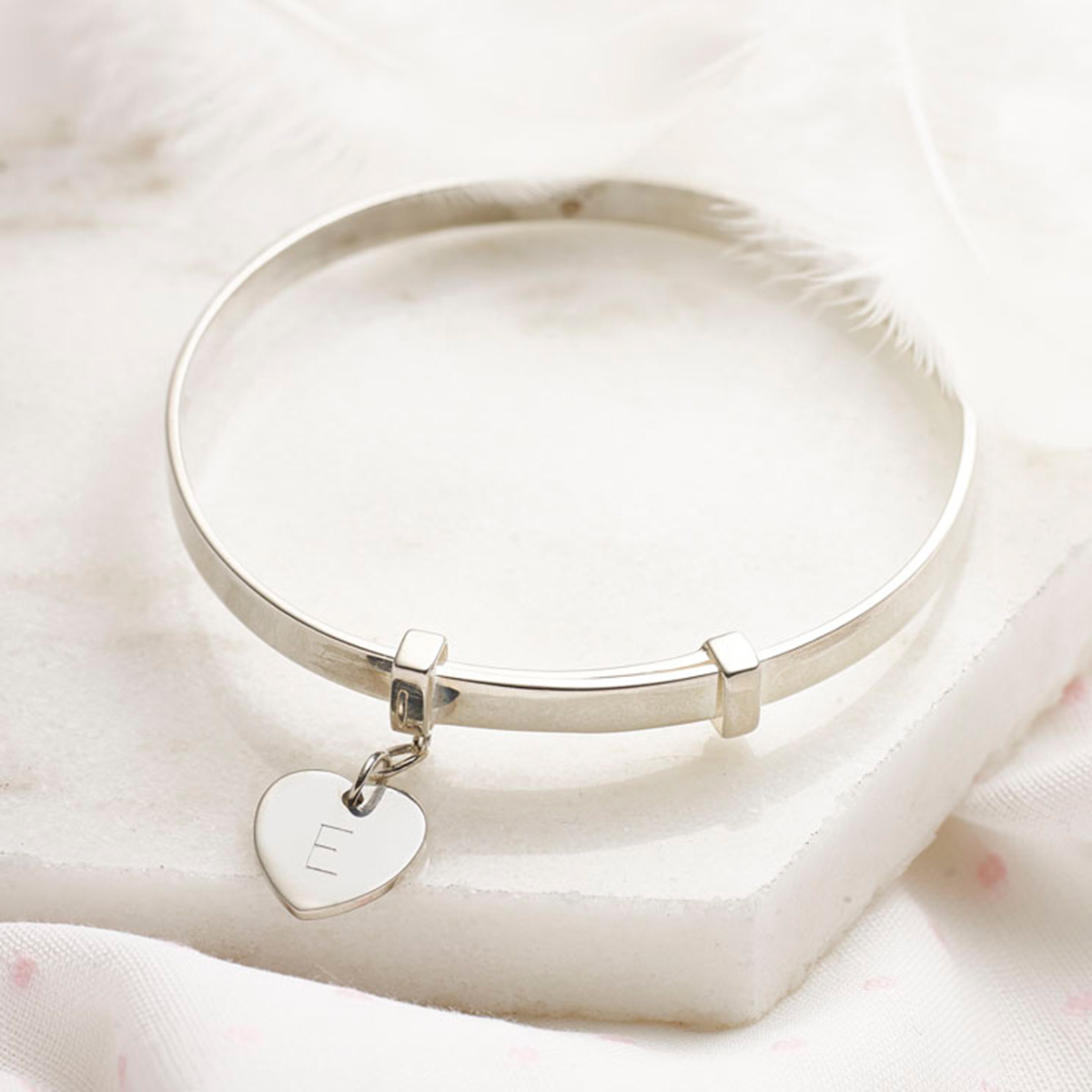 Molly Brown Personalised Love Heart Childrens Bangle
