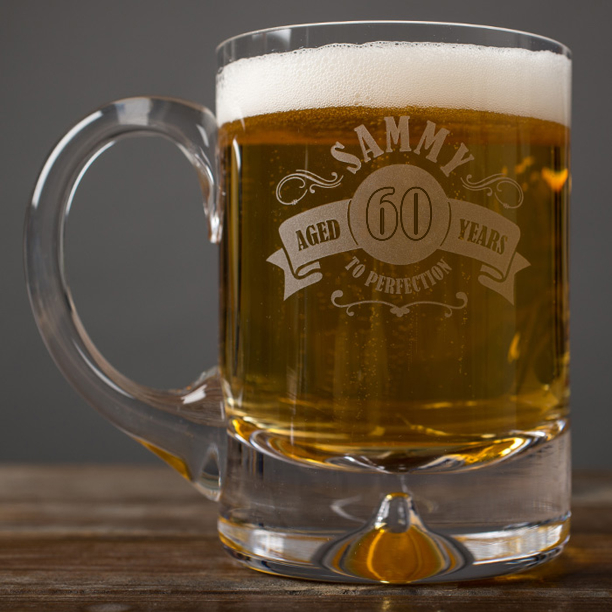 Image of Engraved Premium Tankard - 60th Aged To Perfection