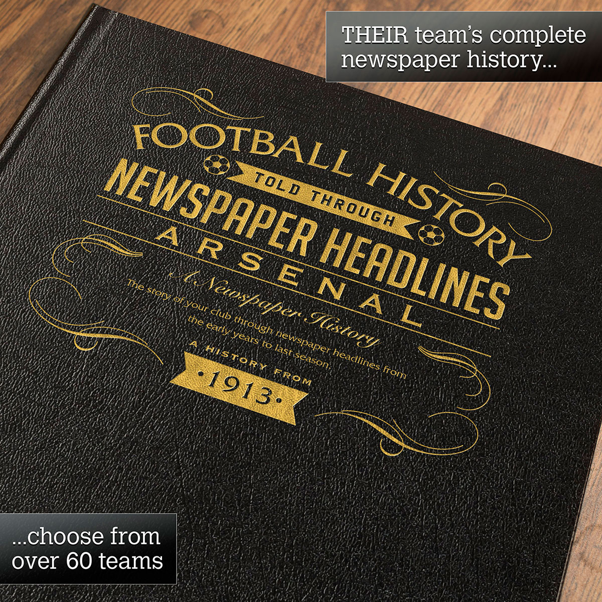 Personalised Arsenal Football Book