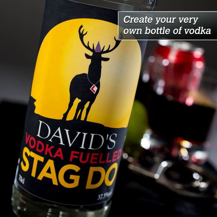 Personalised Vodka  Vodka Fuelled Stag Do