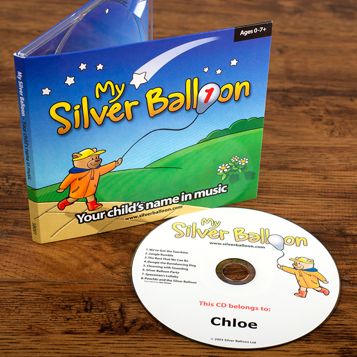 Silver Balloon CD  Your Childs Name in Music