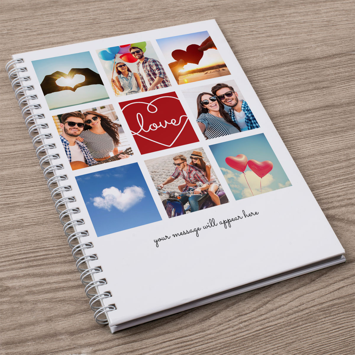 Photo Upload Notebook  Hearts & Sky