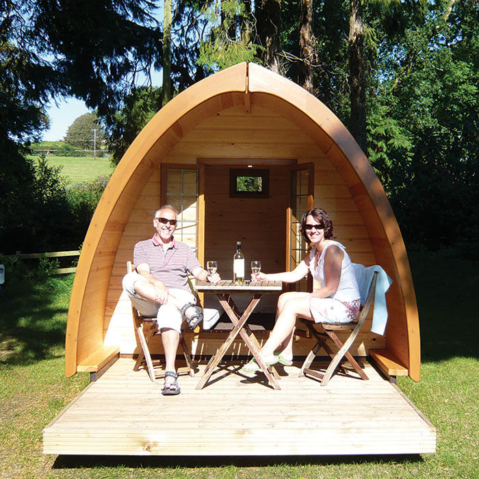 One Night Camping Pod Break For Two