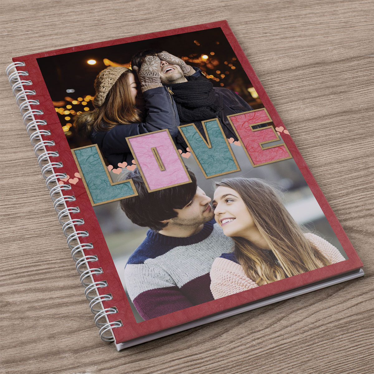 Photo Upload Notebook  LOVE Letters