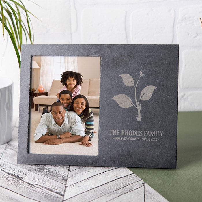 Image of Engraved Slate Chalkboard Photo Frame - Forever Growing