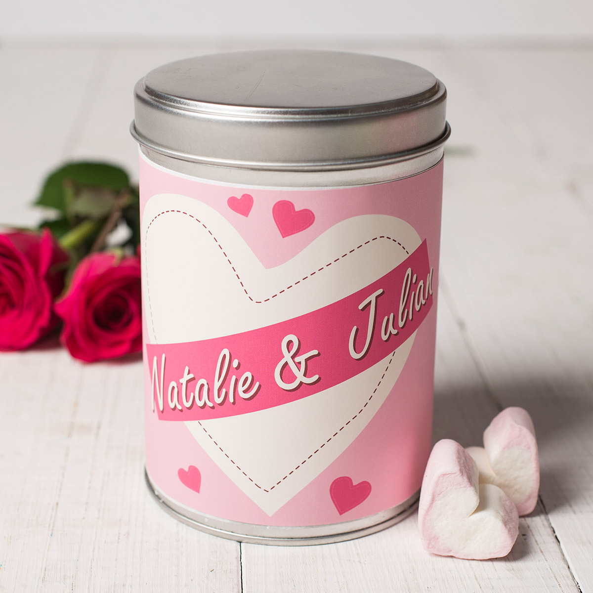 Personalised Hot Chocolate  Couples Heart
