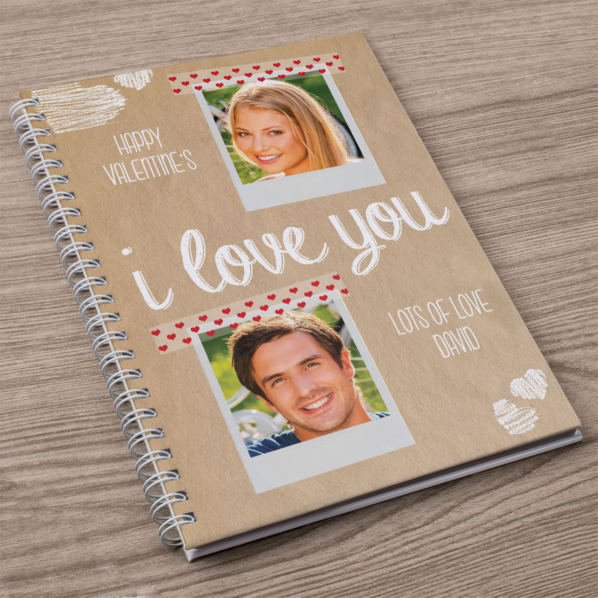Photo Upload Notebook  I Love You 2 Photos & 2 Messages
