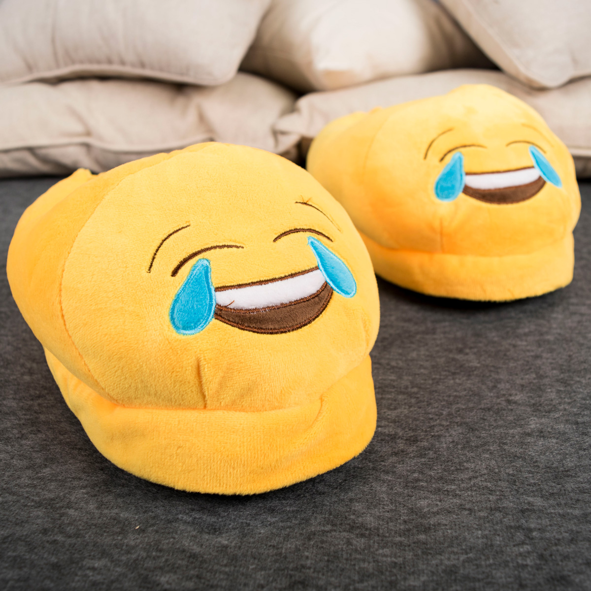Crying With Laughter Emoji Slippers