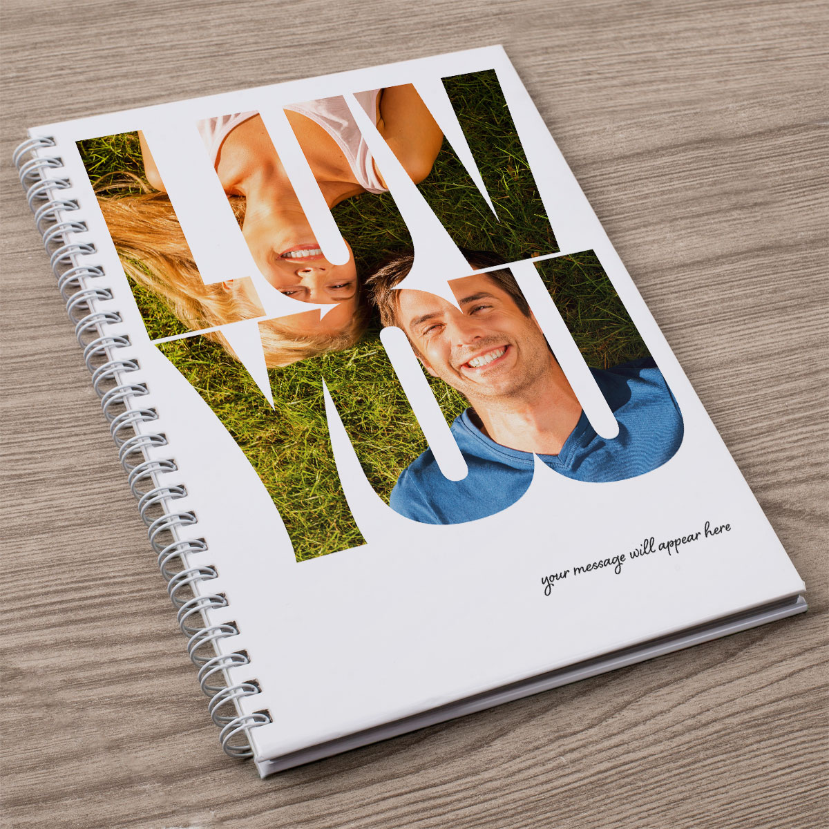 Photo Upload Notebook  Luv You