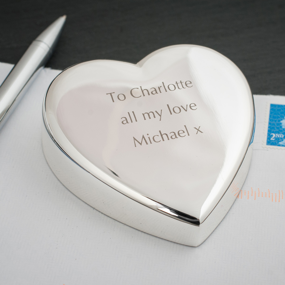 Engraved Heart Paperweight