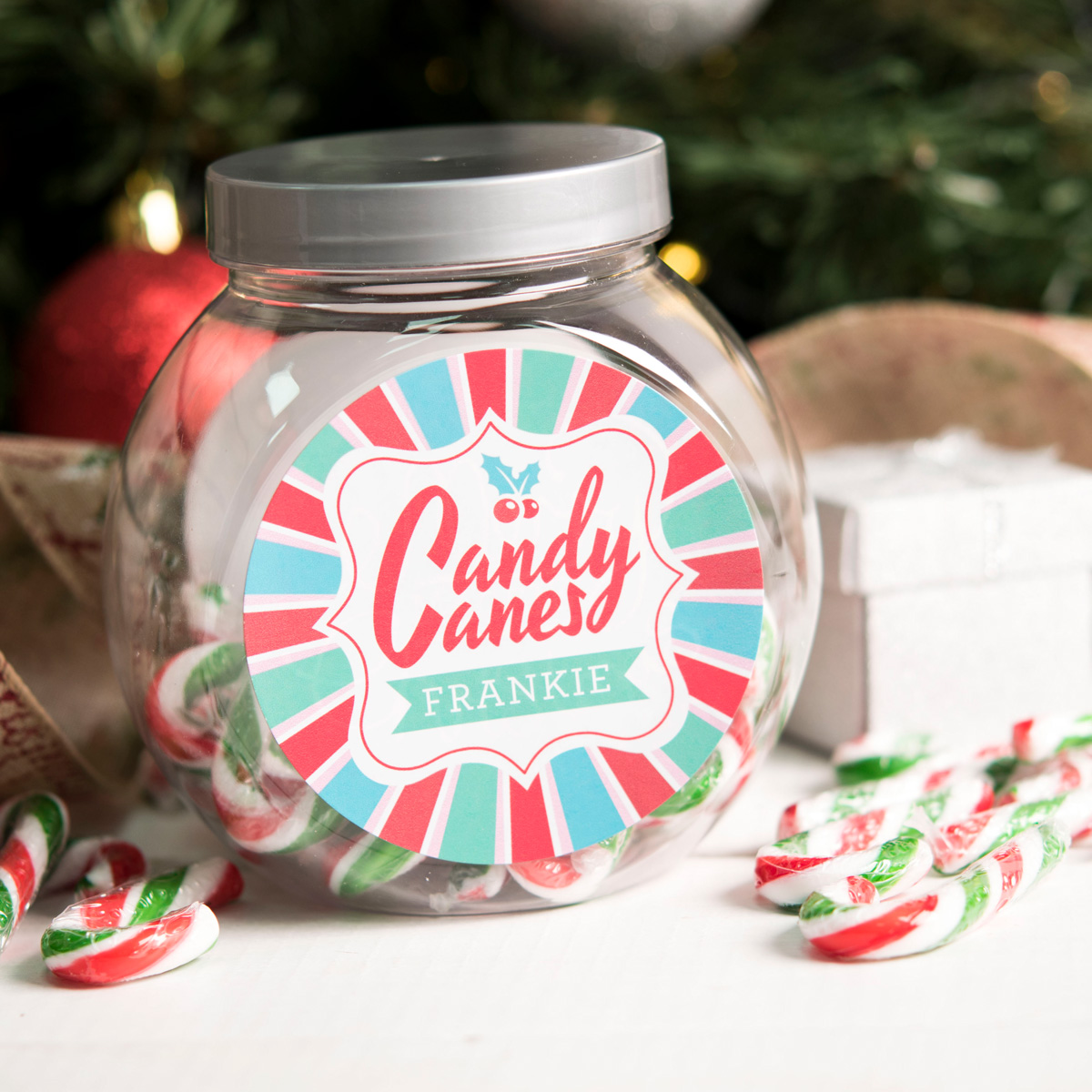Personalised Candy Canes - Holly