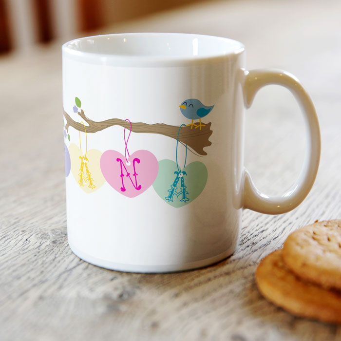 Personalised Mug - Little Birdie For Nana
