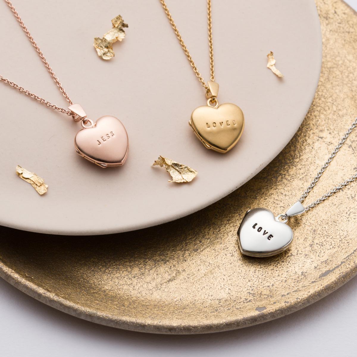 Personalised Posh Totty Designs Heart Locket
