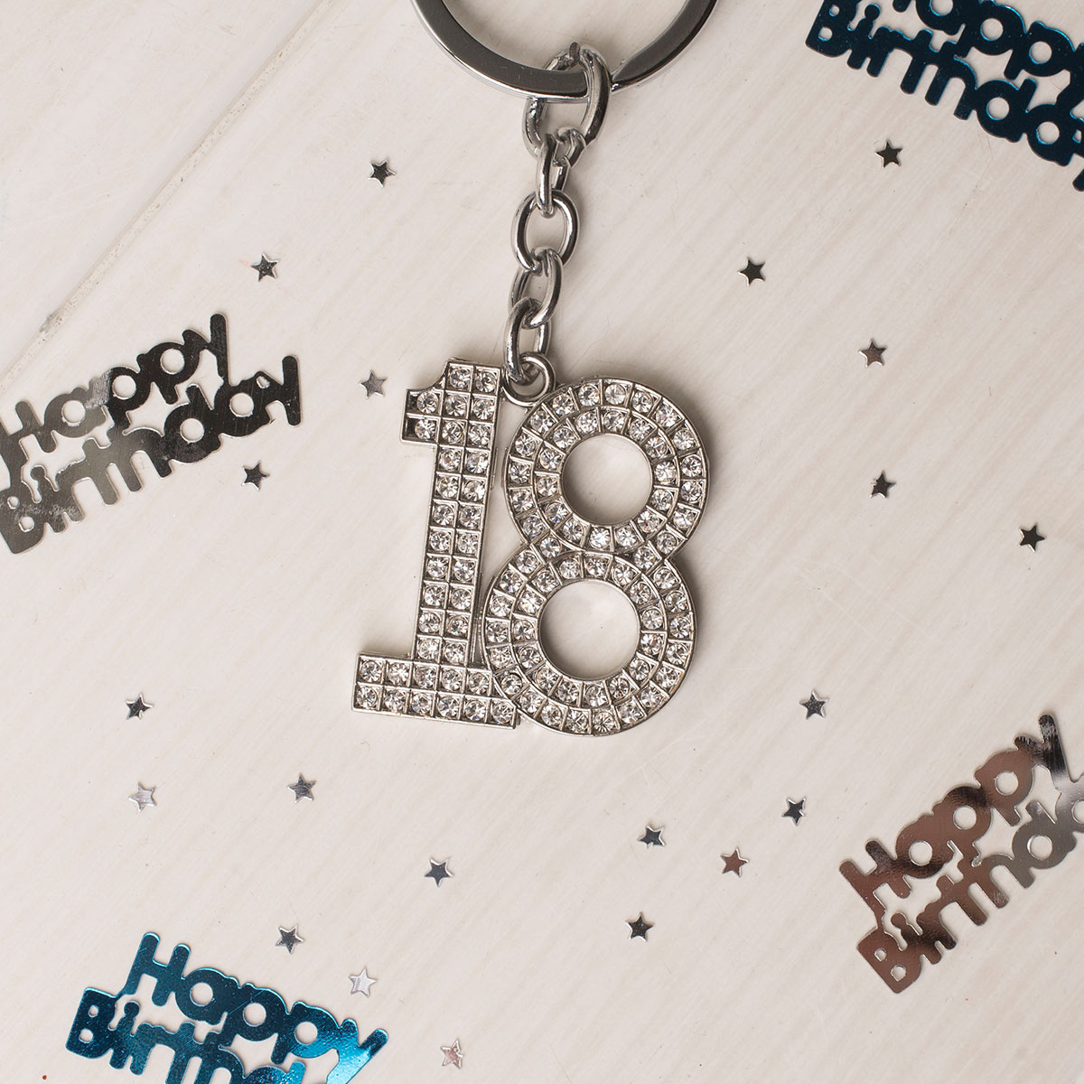 Image of Crystal Keyring - 18th Birthday