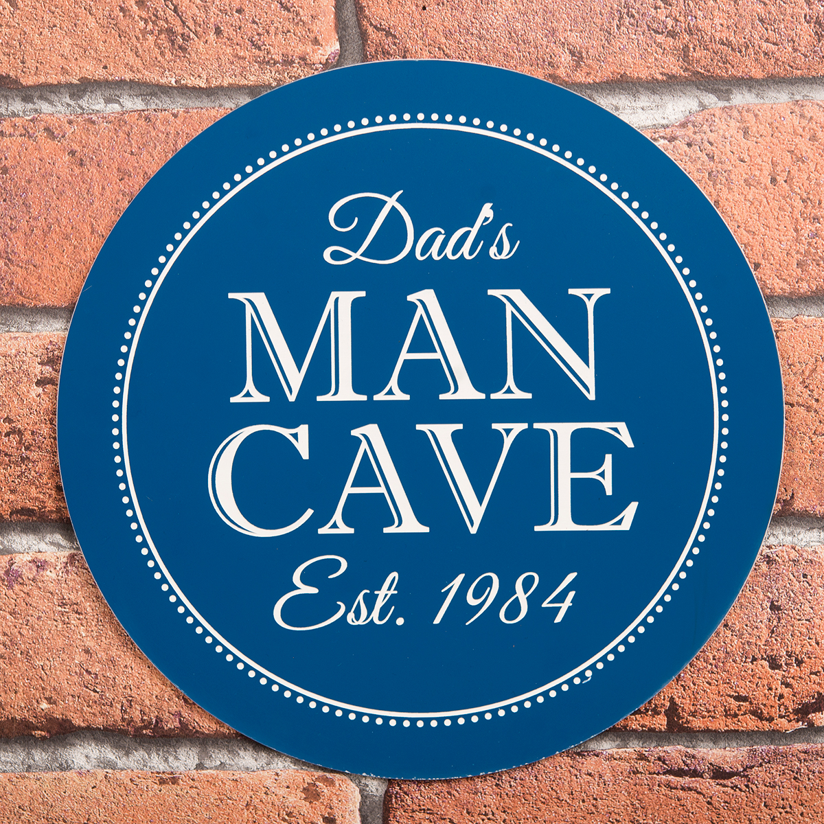 Personalised Heritage Blue Plaque  Man Cave