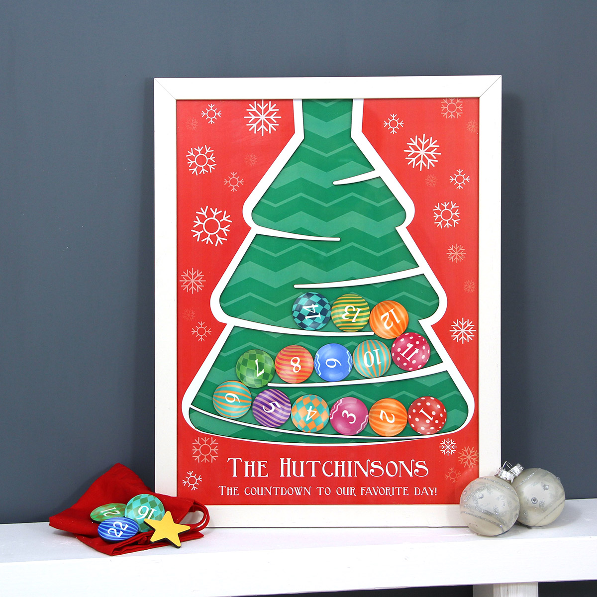 Personalised Wooden Drop Box Advent Calendar
